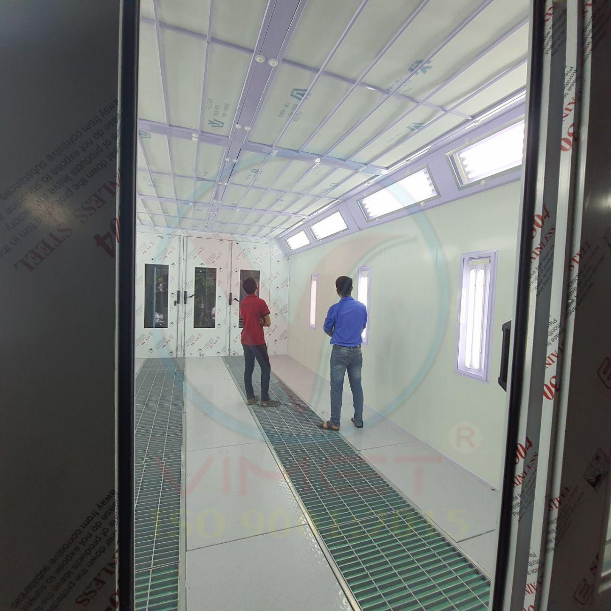 Phòng sơn sấy diesel 2 bộ cửa vào và ra