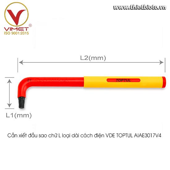 Cần xiết đầu sao chữ L loại dài cách điện VDE TOPTUL AIAE3017V4