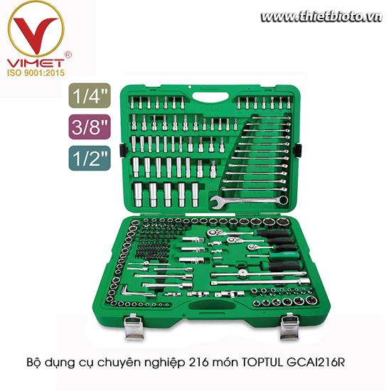 Bộ dụng cụ chuyên nghiệp 216 món TOPTUL GCAI216R