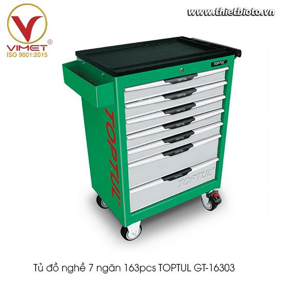 Tủ đồ nghề 7 ngăn 163pcs TOPTUL GT-16303