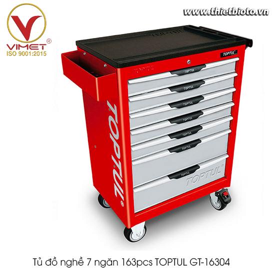 Tủ đồ nghề 7 ngăn 163pcs TOPTUL GT-16304