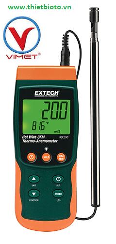Máy đo lưu lượng, tốc độ gió, đo nhiệt độ Extech SDL350