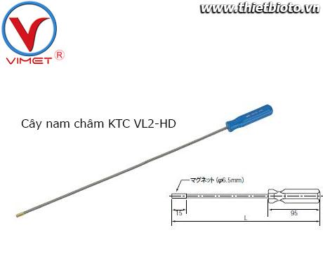 Cây nhặt ốc có nam châm KTC VL2-HD