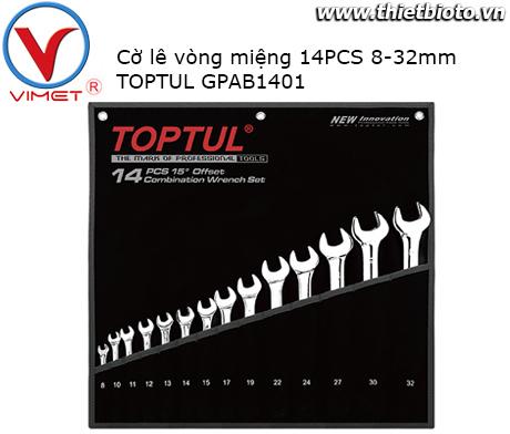 Bộ cờ lê vòng miệng 14 món TOPTUL GPAB1401