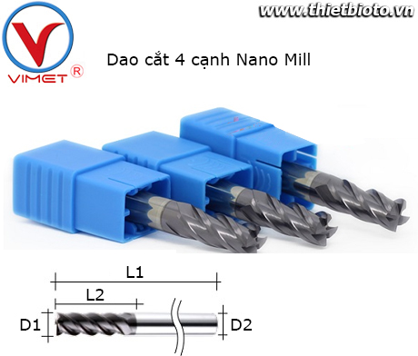 Dao cắt 4 cạnh Nano Mill