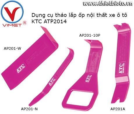 Bộ dụng cụ tháo lắp ốp nội thất xe KTC ATP2014