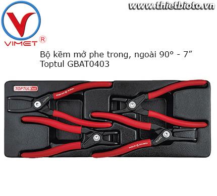Bộ kìm mở phe 4 chi tiết Toptul GBAT0403