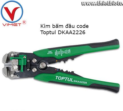Kìm bấm đầu code Toptul DKAA2226