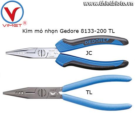 Kìm mỏ nhọn 200mm Gedore 8133-200 TL
