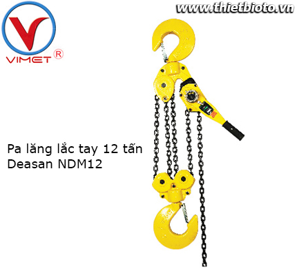 Pa lăng lắc tay 12 tấn Deasan NDM120