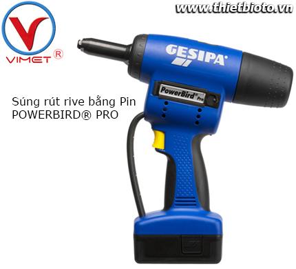 Súng rút rive bằng Pin POWERBIRD® PRO