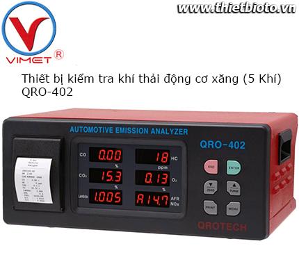 Thiết bị kiểm tra khí thải động cơ xăng Qrotech QRO-402 5 khí