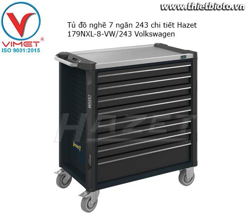 Tủ đồ nghề 8 ngăn 243 chi tiết Hazet 179NXL-8-VW/243 Volkswagen