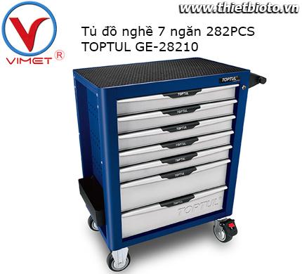 Tủ đồ nghề 7 ngăn 282 chi tiết Toptul GE-28210