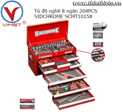 Tủ đồ nghề 8 ngăn 204 chi tiết Sidchrome SCMT10158
