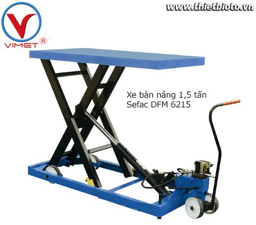 Xe bàn nâng 1500kg Sefac DFM 6215