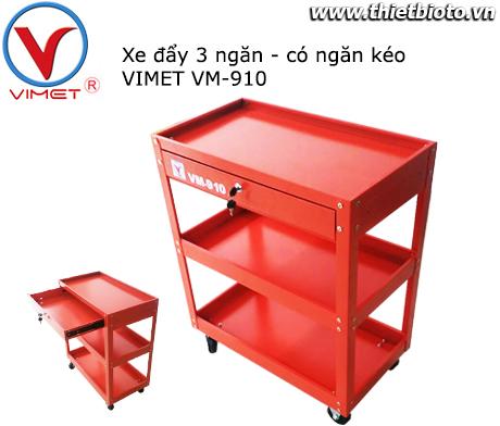 Xe đẩy dụng cụ 3 ngăn Vimet VM-910